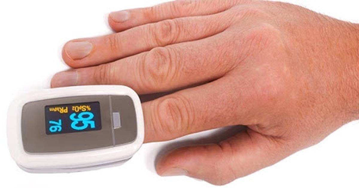 pulsossimetro da dito per misurare la frequenza cardiaca a riposo